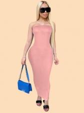 Sexy Plus Size Strapless Maxi Dress