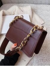 Textured Solid Color Ladies Shoulder Bags