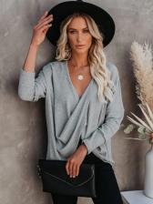 Versatile Solid Color Long Sleeve T Shirt