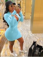 Solid Plus Size Bodycon Dress