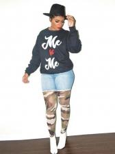Casual Letter Easy Match Fashion Sweatshirt