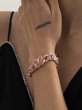 Fashion Colourful Rhinestone Butterfly Bracelet