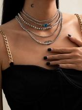 Luxury Full Rhinestone Hip Hop Layered Necklace