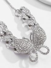 Vintage Design Rhinestone Butterfly Bracelet