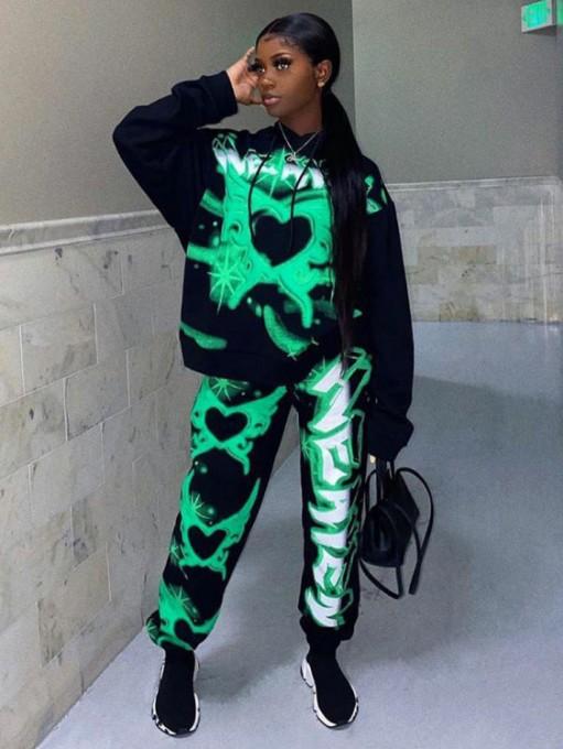 Printed 2 Piece Pants Set