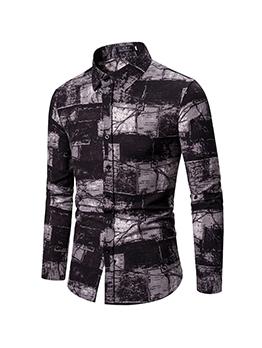 New Cotton Contrast Color Mens Shirt