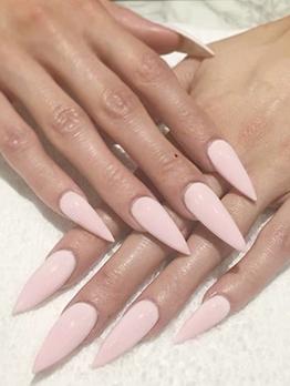 Pink Color Beautiful False Nail Patch
