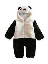 Winter Thicken Panda Shape Kids Sleepsuit