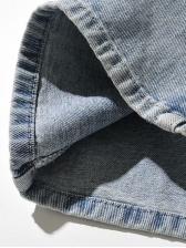 Fashion Color Block Wide Leg Jeans