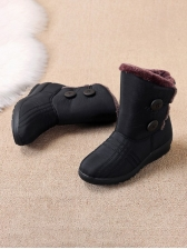 Inner Fluffy Round Toe Boots Online