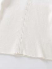 Versatile Turtle Neck Solid Long Sleeve Tee Shirts