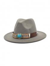 British Style Vintage Jazz Fedora Hat