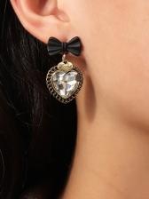 Cute Fashion Heart Zircon Earrings