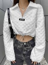 New White Plaid Loose T Shirt
