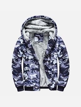 Plus Size Fleece Winter Warm Coat For Men