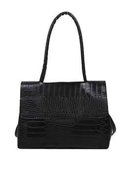 Vintage AlligatorPrint Crossbody Tote Bag