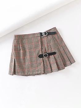 Retro High Waisted Cute Women Pleated Skirt