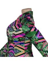 Modern Printed Blazer With Socks Two Piece Sets