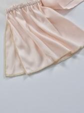 Gauze Patchwork Tie Wrap Off Shoulder Blouse