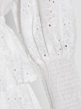 Boutique Lantern Sleeve Ruffled Ladies Dress