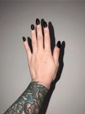 Black Matte Online False Nail Patch