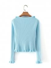 Spring V Neck Stringy Selvedge Cardigan Sweater