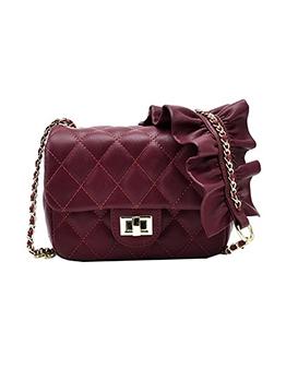 Fashion Twist Hasp Rhombic Women Bag