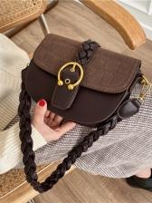 Stone Pattern Hasp Saddle Bag Easy Matching