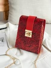 Zebra Striped Print Hasp Mini Bag For Women