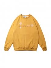 Korean Style Letter Crew Neck Oversized Sweatshirt