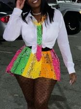 Colorful High Waisted Female A Line Skirt