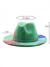 Winter Tie Dye Fashion Jazz Fedora Hat