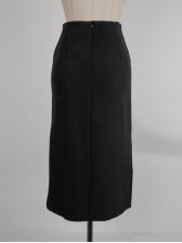 Sexy Black Blazer With Vent Skirt