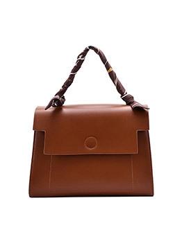 Large Capacity Silk Scarf Handle Crossbody Shoulder Bag