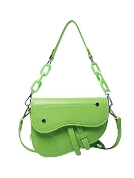 Candy Color Hasp Saddle Bag For Women