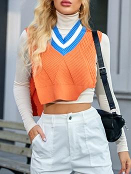 Stylish Sleeveless Women Sweater Vest