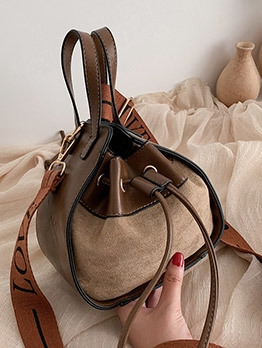 Easy Matching Wide Strap Bucket Bag