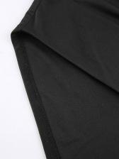 Sexy Backless Halterneck Black Mini Cami