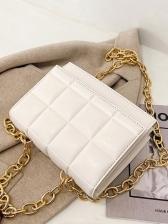 Trendy Checkered Chain Shoulder Bag