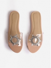 Casual Patchwork Flat Womens Slippers