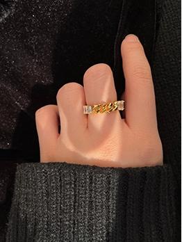 Street Fashion Versatile Zircon Ring