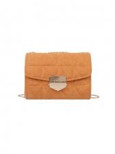 Pure Color Matt Plush Chain Shoulder Bag