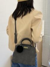 Simple Matt Solid Color Crossbody Shoulder Bag