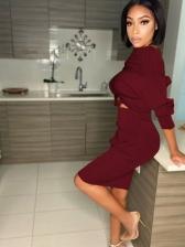 Chic Off Shoulder Crop Top And Skirt Set