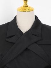 Chic Cross Backless Lapel Collar Cropped Blazer