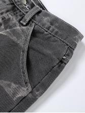 High Waist Slim Versatile Denim Straight Jeans