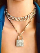 Hyperbole Vintage Rhinestone Pendant Necklace