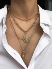 Fashion Chain Layered Necklace Women