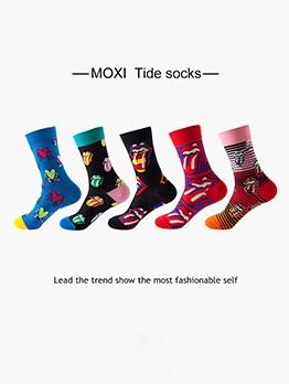 Printed Design Lovers Sport Basketball Socks