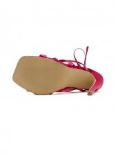 Roman Style Rhinestone Lace-Up Womens Sandals